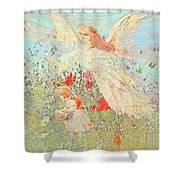 Gathering Flowers  Shower Curtain
