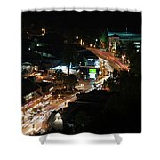 Gatlinburg, Tennessee At Night From The Space Needle Shower Curtain