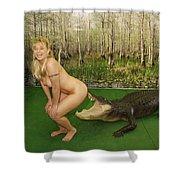 Gator Bites Shower Curtain