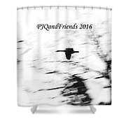 Geese Flyover Shower Curtain