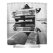 General Motors Proving Ground Shower Curtain