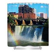 Genesee River Rainbow Shower Curtain