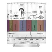 Geologic Time Line Shower Curtain