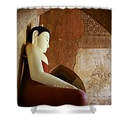 Geometric Buddha Shower Curtain