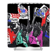 George Wallace For President Supporters Democratic Nat'l Convention Miami Beach Florida 1972-2013 Shower Curtain