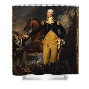 George Washington Before The Battle Of Trenton Shower Curtain