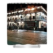 Georgia Queen Riverboat On The Savannah Riverfront Shower Curtain