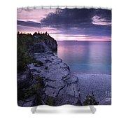 Georgian Bay Cliffs At Sunset Shower Curtain
