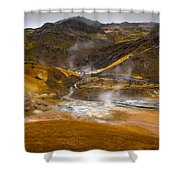 Geothermal Area Shower Curtain