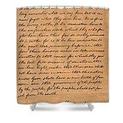 Gettysburg Address Shower Curtain