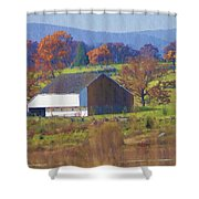 Gettysburg Barn Shower Curtain by Bill Cannon