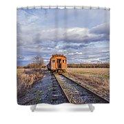 Ghost Train Shower Curtain