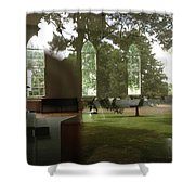 Ghostly Reflections Shower Curtain