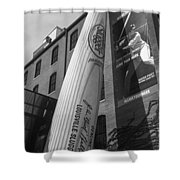 Giant Baseball Bat Adorns Shower Curtain