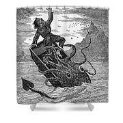 Giant Squid, 1879 Shower Curtain
