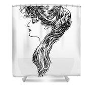 Gibson Girl, 1903 Shower Curtain