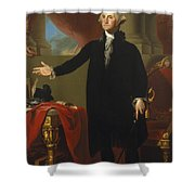 Gilbert Stuart - George Washington 1796 Shower Curtain