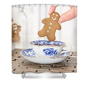 Gingerbread In Teacup Shower Curtain