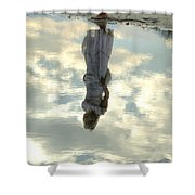 Girl And The Sky Shower Curtain by Joana Kruse