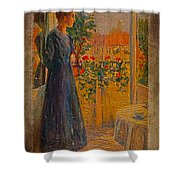 Girl At The Window Shower Curtain