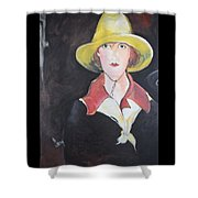 Girl In Riding Hat Shower Curtain