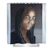Girl With Braids Shower Curtain