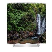 Git Git Waterfall - Bali Shower Curtain