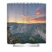 Glacier Point Sunset  Shower Curtain