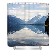 Glacier Reflections Shower Curtain