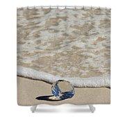 Glass Diamond On The Beach Shower Curtain