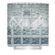 Glass Wall Shower Curtain