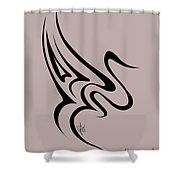Gliding Swan Shower Curtain
