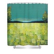 Canola Field N04 Shower Curtain
