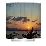 Glowing Horizon Shower Curtain