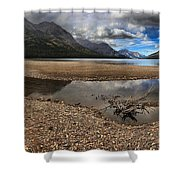 Goat Haunt Tide Pool Reflections Shower Curtain