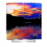 Gods Water Colors Shower Curtain