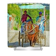 Going To Market 2 Shower Curtain