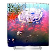 Gold Fish Pond Shower Curtain