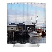Golden Dolphin Eel Fishing Boat Port Angeles Washington Shower Curtain