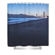 Golden Gate Bridge And Pacific Ocean Early Morning Shower Curtain