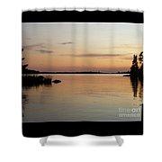 Golden Shores Shower Curtain