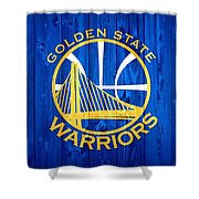 Golden State Warriors Door Shower Curtain