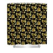 Golden Tropics Pattern Shower Curtain