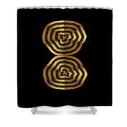 Golden Waves Hightide Natures Abstract Colorful Signature Navinjoshi Fineartartamerica Pixels Shower Curtain