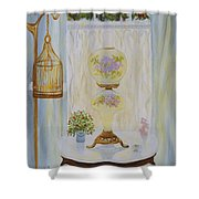 Gone With The Wind Lamp Shower Curtain