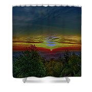 Good Morning Sunrise Shower Curtain