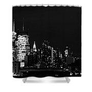 Good Night New Yorker Shower Curtain