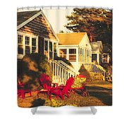 Goose Creek Beach Cottages Shower Curtain