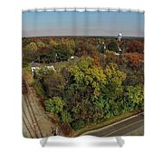 Gordonsville Virginia Tracks Shower Curtain