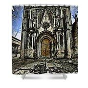 Gotic Church Shower Curtain